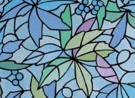 """Пленка с/к """"GEKKOFIX"""" арт.13668 (виноград) цветной витраж 67,5х8м"""