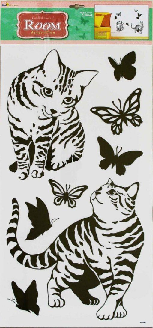Стикер 3194 Кошки графика