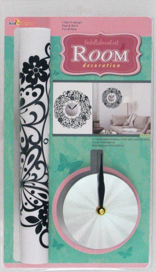 Стикер 0302 Часы с бабочками