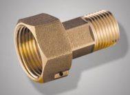 Присоединительный комплект F 218.04 (штуцер) для водосч. с обратн.клапаном (FR 218-1/2М х3/4F) (пара) Фрап