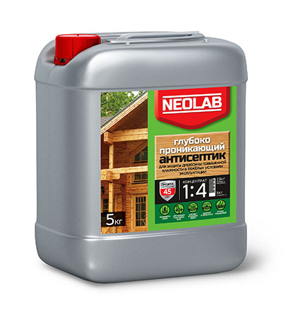 Антисептик ГЛУБОКОПРОНИКАЮЩИЙ концентрат 1:4 (1 кг) (уп.9 шт.) NEOLAB