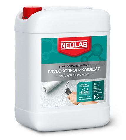 Грунтовка акриловая ГЛУБОКОПРОНИКАЮЩАЯ для внутренних работ 20 кг (уп.1 шт.) NEOLAB