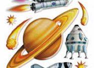 Стикер 1071 Космос 29х41см 520*300мм