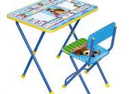 """Комплект КП2/2 """"Познайка""""(стол+стул мягк.моющ)дет.скл.Азбука2:Маша и медведь. Ника"""