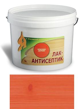 ЛАК-АНТИСЕПТИК деревозащитный состав цвет: красное дерево 2,5 л (уп.4 шт.)