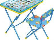 Комплект КУ1/9 (стол+стул мягк) детск.складн. Азбука син. Ника