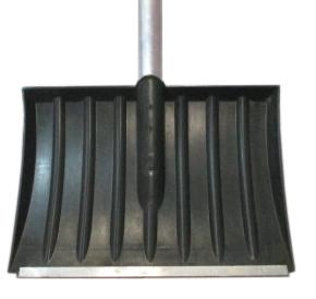 Лопата для снега плас. 320*440 с метал.планкой с алюм.чер №4
