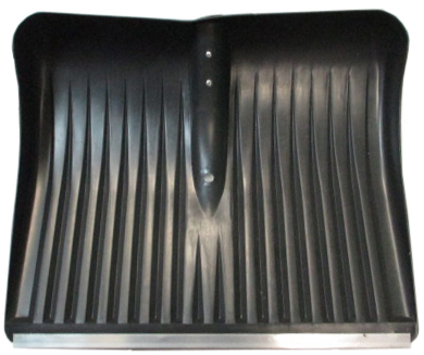 Лопата для снега плас. 400*490 с метал.планкой б/чер №1