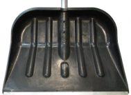 Лопата для снега плас. 400*460 с метал.планкой с алюм.чер №2