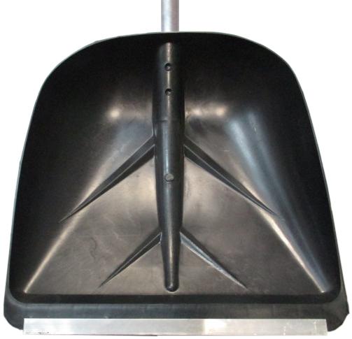 Лопата для снега плас. 400*380 с метал.планкой с алюм.чер №3