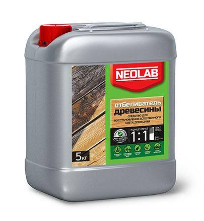 ОТБЕЛИВАТЕЛЬ ДРЕВЕСИНЫ концентрат 1:1 (5 кг) (уп.4 шт.) NEOLAB