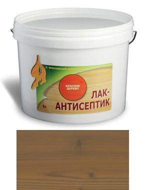 ЛАК-АНТИСЕПТИК деревозащитный состав цвет: палисандр 9 л (уп.1 шт.)