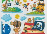 Стикер 6104 Пираты с блестками