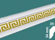 Плинтус потолочный FK-4502 золото(уп.105шт)