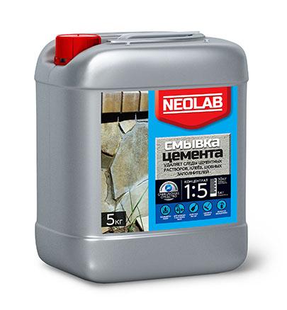 СМЫВКА ЦЕМЕНТА концентрат 1:5 (1 кг) (уп.9 шт.) NEOLAB