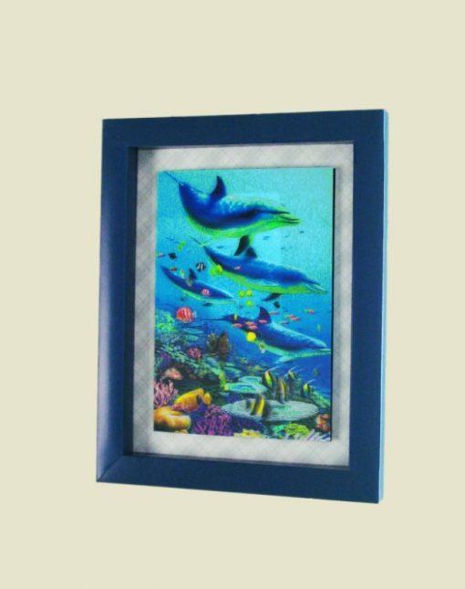 Стикер 7306 Дельфины. Декоративная рамка