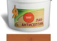ЛАК-АНТИСЕПТИК деревозащитный состав цвет: тик 0,9 л (уп.12 шт.)