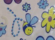 Спа-коврик для в/к 68х40см FM-6840-10 (Бабочки-цветочки)
