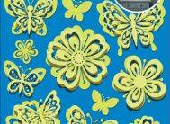 Стикер 3801/1 Цветы светящиеся объемные