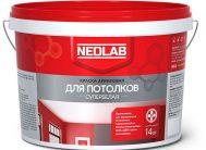Акриловая супербелая краска ДЛЯ ПОТОЛКОВ ВД-АК-2180 3 кг (уп.4 шт.) NEOLAB