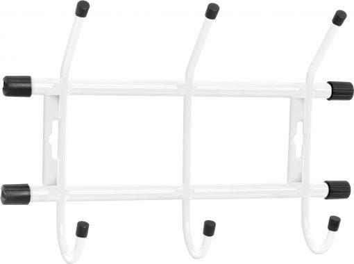 Вешалка настенная ВН3/Б 3-Крючка (284 х 188 мм.) белый Ника