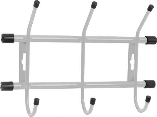 Вешалка настенная ВН3/С 3-Крючка (284 х 188 мм.) серебро Ника