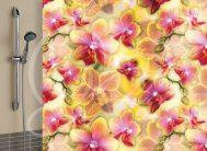 Штора 180*180 дл в/к полиэстер 1566 -1 Орхидея