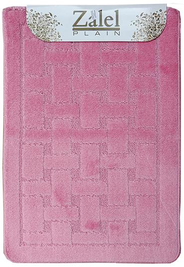 Набор ковриков Залел (1предмет) 55*85-90см розовый