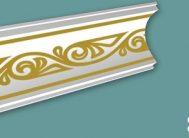 Плинтус потолочный FK-4110 золото(уп.100шт)