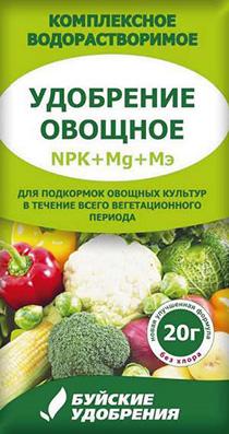 """Удобрение """"Овощное"""" 20г (60 шт.)"""