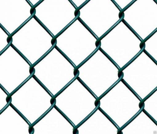 Сетка плетеная (рабица) с полимерным покрытием (ПНД) 1,5м*10  55*55*2,5