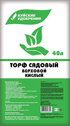 Торф садовый верховой (кислый) 40л (1 шт.)