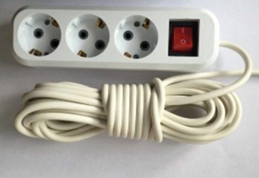 Удлинитель с выключателем (ПВС 3*0,75) 230В/10А/3/3м арт.462939
