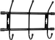 Вешалка настенная ВН3/Ч 3-Крючка (284 х 188 мм.) черн. Ника