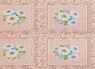 Клеенка Колорит на тк.осн. 101/2 беж,ромаш,клетка (1.26х25м)