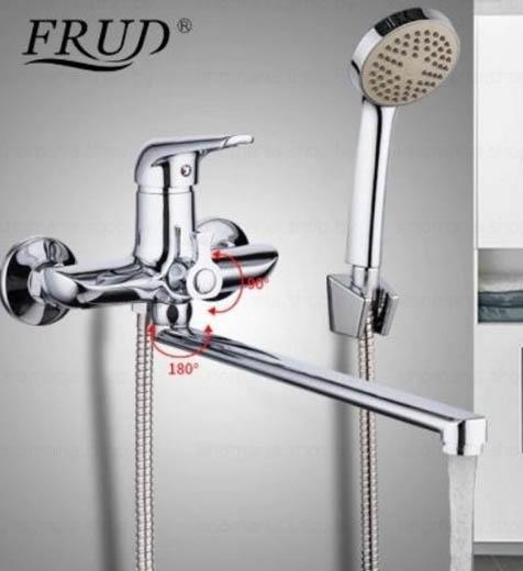 R-22102 Смеситель д/ванны хром Фруд ФРАП